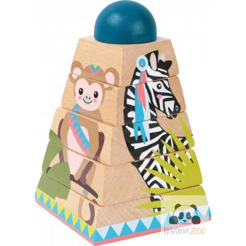 3D kirakó, építő piramis torony