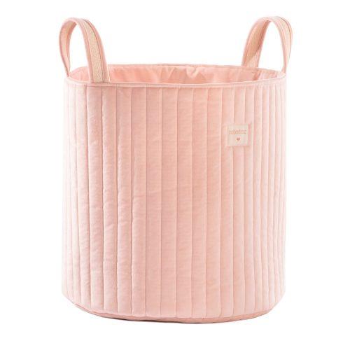 Nobodinoz Savanna bársony  játéktároló - rózsaszín