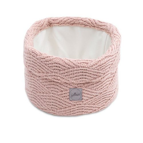 Jollein Changing table basket River Knit - Pale Pink