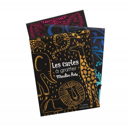 kaparós varázs kártyák, szinező, rajzoló pálcikával (7 db) 3 színben