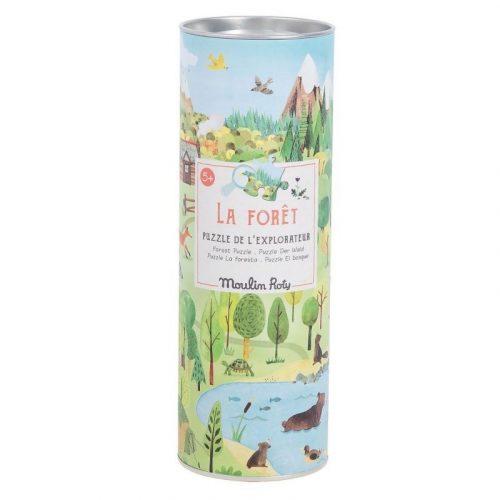 Kirakó gyerekeknek 96 darabos , Explorer's puzzle - erdő