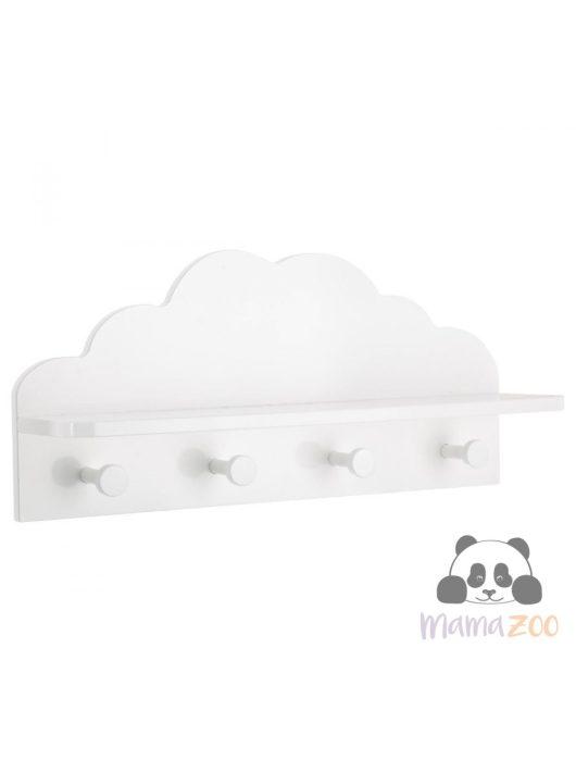 Felhő polc fogasokkal -fehér