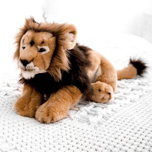 Élethű plüssik - plüss oroszlán - nagy