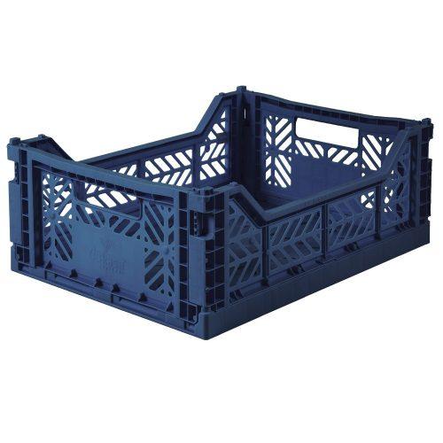 AYKASA Folding Crate - Midi NAvy blue