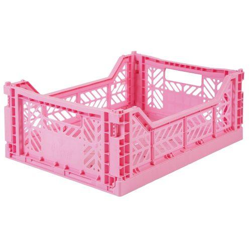 Aykasa összecsukható tároló rekesz - baba rózsaszín (M méret)