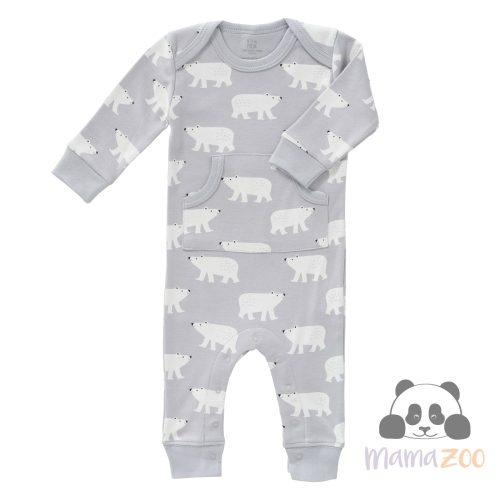 FRESK pizsama organikus pamutból - jegesmedve (3-6 hó)