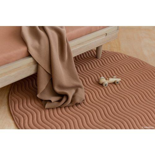 Nobodinoz kiowa pamut játszószőnyeg - sienna barna
