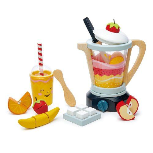 Tender Leaf Toys fa turmixgép gyümölcsökkel , mixer, fruity blender