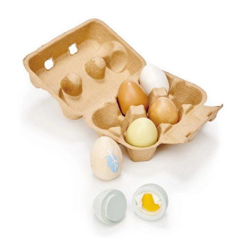 Tender Leaf Toys fa tojástartó 6 tojással