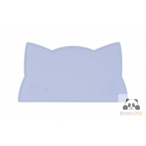 Tányéralátét puha szilikonból - babakék cica