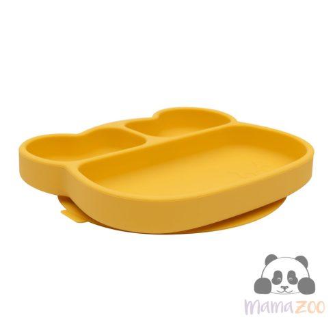 Stickie tapadós tányér - sárga maci