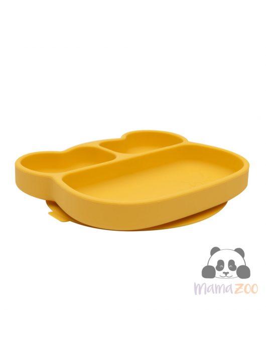 Bear Stickie Plate - Yellow