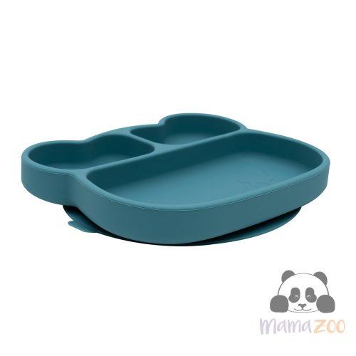 Stickie tapadós tányér - olajzöld maci