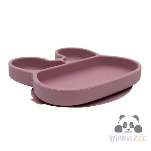 Stickie tapadós tányér - mályva nyuszi