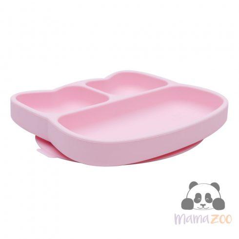 Stickie tapadós tányér - rózsaszín cica