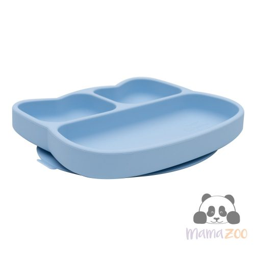 We might be tiny Stickie tapadós tányér - kék cica