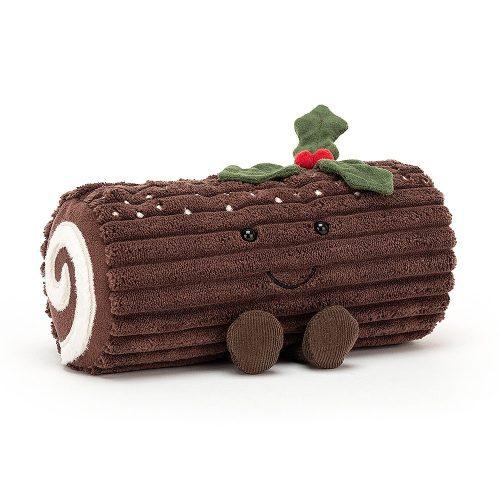 Amuseable Yule Log -  plüss fatörzs torta