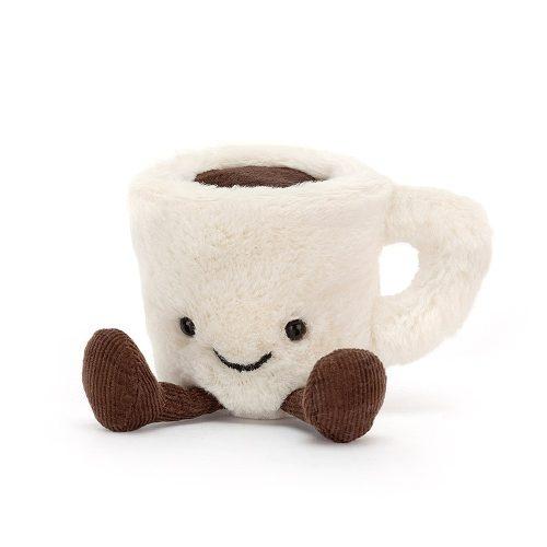 JellyCat plüss espresso csésze, plüss kávé