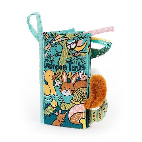 JellyCat Farkinca puha könyv - kerti állatok garden tails