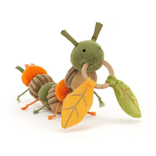 JellyCat Christopher hernyó Activity Toy - játék babáknak