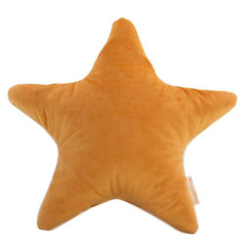 Nobodinoz Bársony Csillag alakú párna - mustársárga