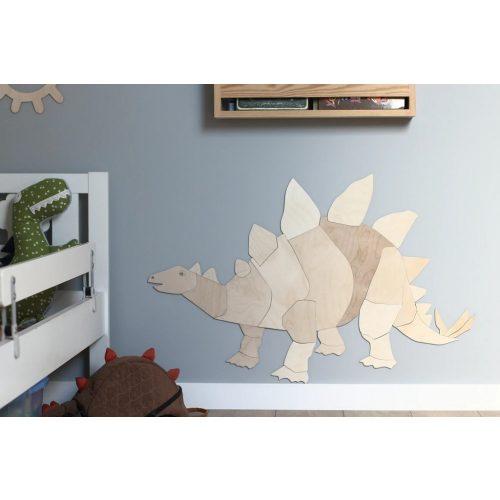 origami Stegosaurus fa falidísz M méret