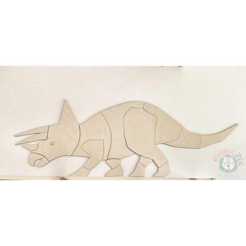 origami triceratopsz fa falidísz M méret