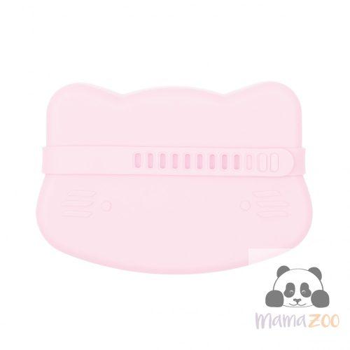 Uzsonnás doboz puha szilikonból - rózsaszín cica