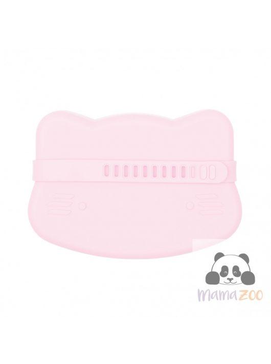 Uzsonás doboz puha szilikonból - rózsaszín cica