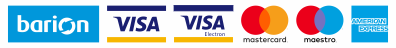 A kényelmes és biztonságos online fizetést a Barion Payment Zrt. biztosítja, MNB engedély száma: H-EN-I-1064/2013 Bankkártya adatai áruházunkhoz nem jutnak el.